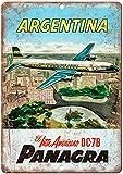 Argentina Panagra Vintage Travel Poster T201 Carteles de metal vintage Carteles de chapa retro Carte...