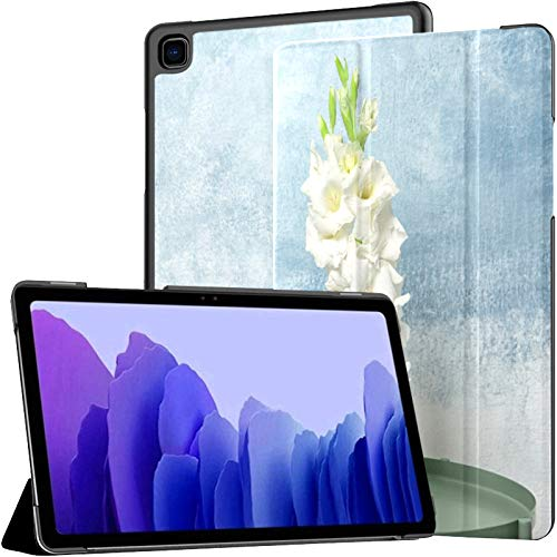 Funda de piel sintética para Samsung Galaxy Tab A7 de 10,4 pulgadas de 2020, diseño de flores de Gladiolus en la mesa