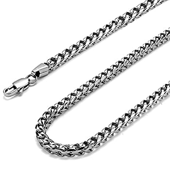 FIBO STEEL 6MM Curb Chain Necklace for Men Stainless Steel Biker Punk Style 26 inches