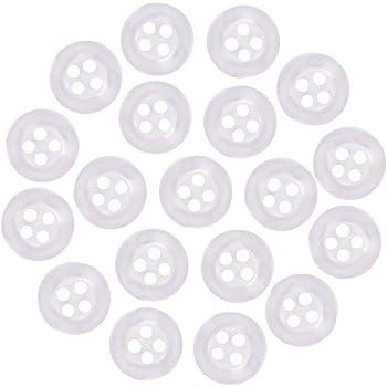 Ø 9,5-25mm Acryl Knopf annähen transparent Knöpfe Kunststoff 2-Loch 9 Größen