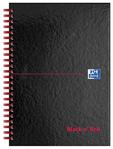 Oxford Black N Red A5 Hardcover-Buch mit Spiralbindung