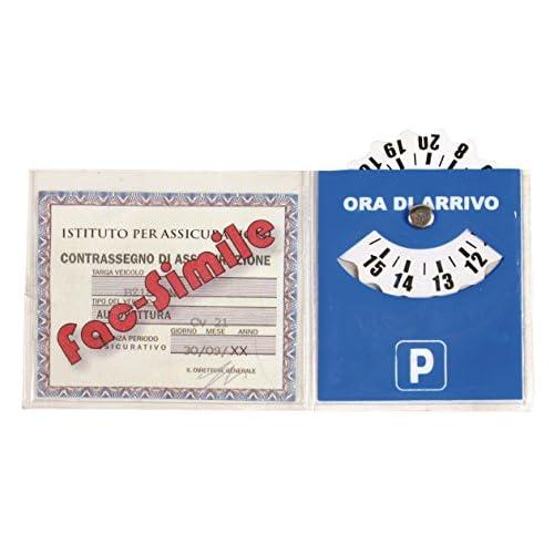 Lampa 65344 Porta Bollo Assicurazione con Disco Orario