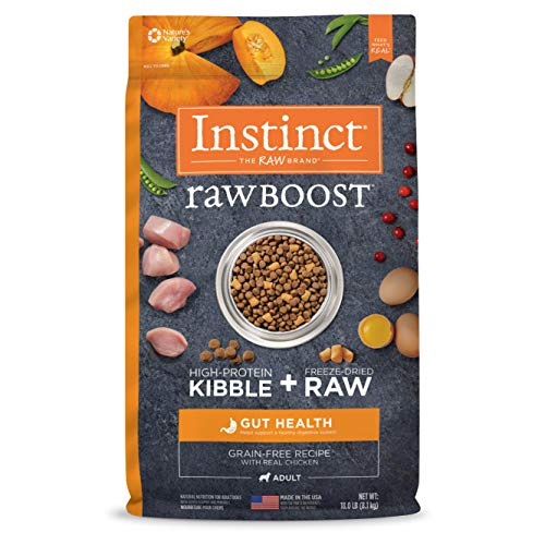 Instinct Raw Boost Gut Health Grain Free Recipe with Real Chicken Natural Dry Dog Food by Nature's Variety, 18 lb. Bag