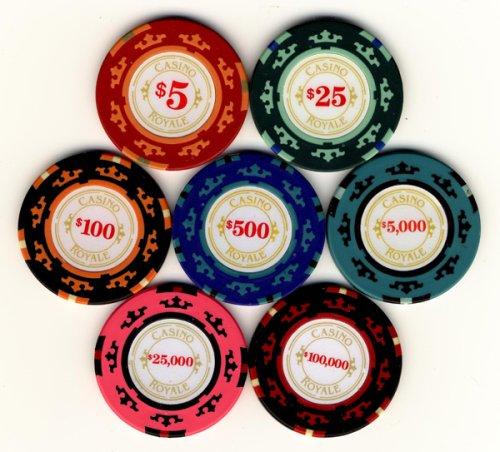 Casino Royale Juego de póquer Chip de James Bond 007 cine película quot;: Amazon.es: Deportes y aire libre