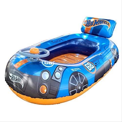 Kleinkinder Schwimmringe, Mit Einem Lenkrad Lautsprecher Schwimmring, Aufblasbare Schwimmende Bett, Kinder Schwimmende Pool Spielzeug 112x71cm