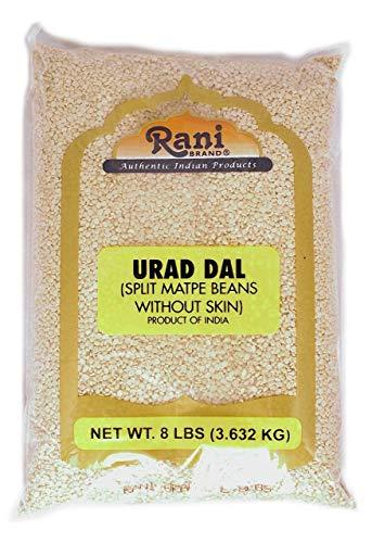 Rani Urid / Urad Dal (Split Matpe Beans) Lentils 8lb (3.6kg) Bulk ~ All Natural | Indian Origin | Gluten Free Ingredients | NON-GMO | Vegan