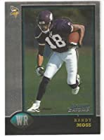 1998 Bowman Chrome # 182 Randy Moss RC - Minnesota Viking / New England Patriots - (NFL Rookie Football Card) - Limited Quantities Available!!