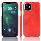 KIOKIOIPO-N Mode Stoß- Litchi Texture PC + PU-Kasten for Apple iPhone XI 2019 (Color : Red)