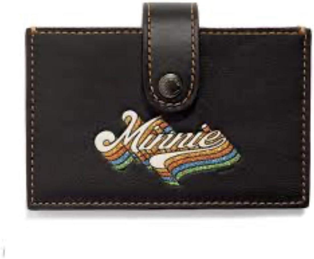 Coach Minnie Miniature Accordion Card black case in Max 55% Clearance SALE! Limited time! OFF 29342