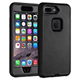 Co-Goldguard Case for iPhone 7 Plus/8 Plus Heavy Duty 3 in 1 Built-in Screen Protector Durable Cover Dust-Proof Shockproof Scratch-Resistant Shell Compatible with iPhone 7+/8+ 5.5,Black