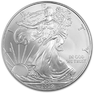 2009-1 Ounce American Silver Eagle Low Flat Rate Shipping .999 Fine Silver Dollar Uncirculated US Mint