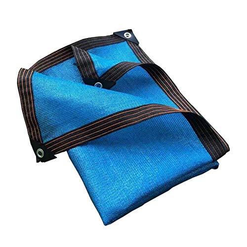KUYUC 85% Schattierungsnetz Schattentuch für Garten, Schattiernetz Sonnenschutz mit Ösen für Pflanze Balkon Gewächshau (Color : Blue, Size : 3x4M/10x13FT)