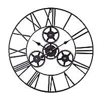 サイレントメタル壁掛け時計、大きな壁掛け時計ローマ数字50cmリビングルーム、寝室、オフィス用壁掛け時計