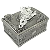 PALLION Silver Plated Lord of the Rings Arwen's Evenstar Pendant Necklace with Jewelry Box Women,Girls US Seller