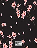 sketchbook: Cherry blossom on black cover (8.5 x 11) inches 110 pages, Blank Unlined Paper for Sketching, Drawing , Whiting , Journaling & Doodling (Cherry blossom on black sketchbook) (Volume 5)