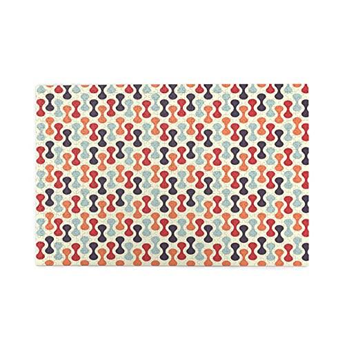 KIMDFACE Rompecabezas Puzzle 1000 Piezas,Impresión de Forma Abstracta Vertical Colorida,Educa Inteligencia Jigsaw Puzzles para Niños Adultos