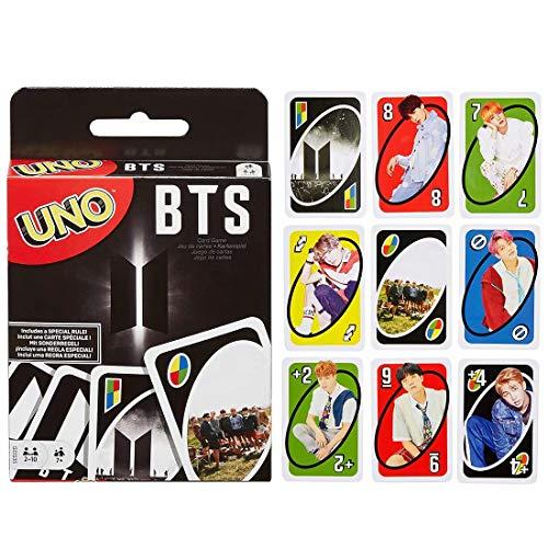 Bulex UNO: BTS, Classic UNO Card Game, Fun Card Game
