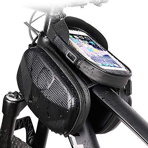 """Bolsa de Marco Frontal para teléfono de Bicicleta, Bolsa Impermeable para Bicicleta, Bolsa de Almacenamiento para Accesorios de Bicicleta, Compatible con Pantalla táctil Fit 6.5 """""""