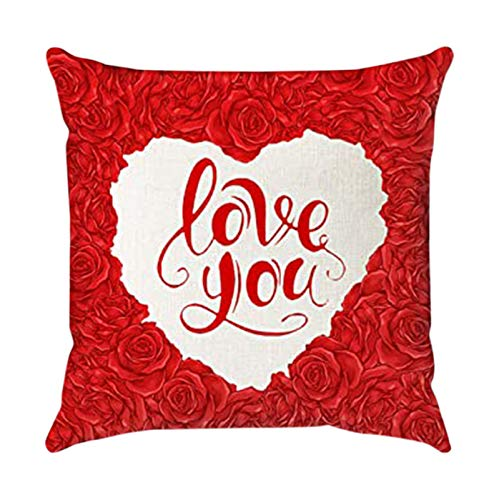 1PC Home Valentine's Day Pillowcase Decorative Pillow Case Creative Pillow Case, Pillow Case, For Valentine's Day, Easter, St. Patrick's Day