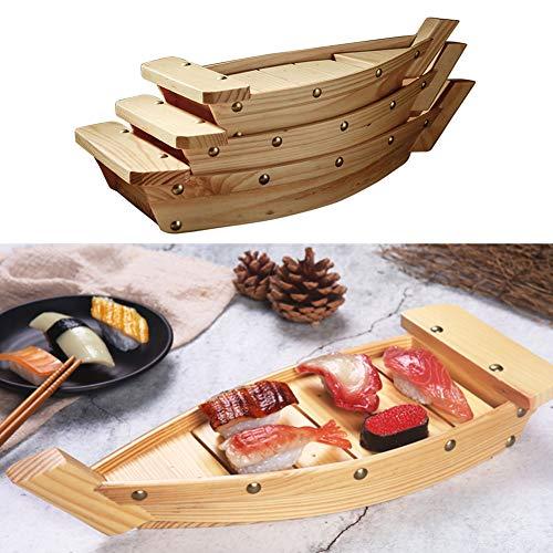 HIANG256 - Sushi barca in legno, creativo giapponese, per sushi e sashimi, per ristoranti, eventi di catering, feste in famiglia, Non null, Come da immagine, small