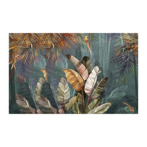WHYBH HYCSP Poster Mauer Tapete Tropische Pflanze Wald Banana Leaf Flamingo Foto Tapeten Wohnkultur for Wohnzimmer Schlafzimmer (Color : B)