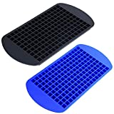 2Pcs Ice Cube Tray 160 Grids Square Shape Silicone Mini Ice Cubes Tray for Freezer Baby Food Water Whiskey...