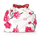 monbento - MB Pochette Blossom red/pink/white Bento lunch bag - Polyester lunch tote - Suitable for MB Original MB Square & MB Tresor Bento boxes