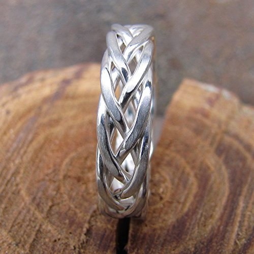 5 Wire Braided Argentium Sterling Silver Ring
