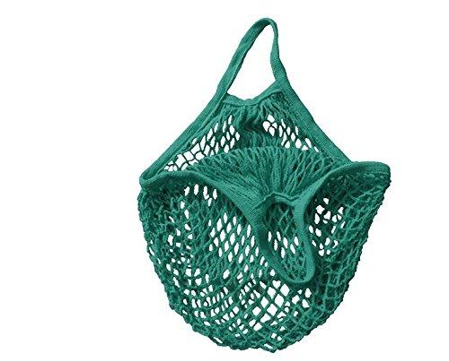 nabati Sac en maille de coton bio - Sac fourre-tout tissé réutilisable - Vert