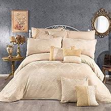 Regal In House 12-Pieces Chanel Cotton Comforter Set Beige - 260x240cm - 2000197-v1