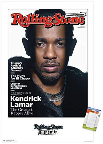 Trends International Rolling Stone Magazine - Kendrick Lamar 17 Wall Poster, 22.375' x 34', Premium Poster & Mount Bundle