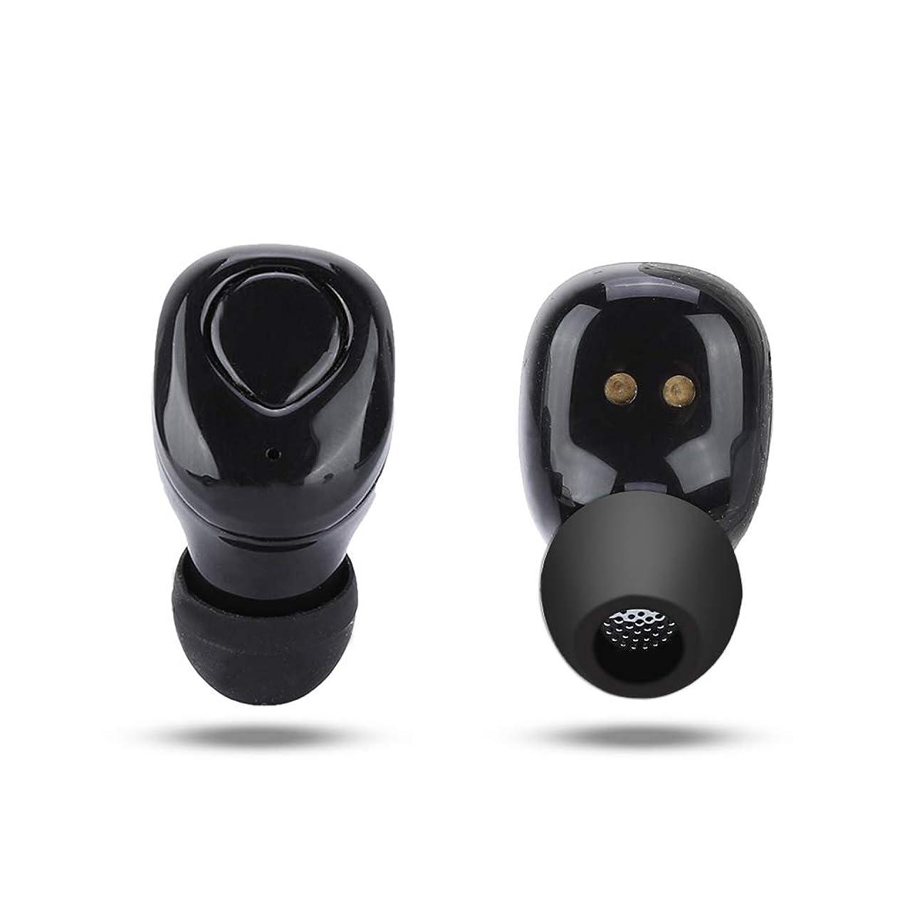 軍団落とし穴感謝するミニBluetoothヘッドフォン ASHATA TWS Bluetooth 4.2ヘッドフォン HiFi Sound Sportミニヘッドフォン 人間工学に基づいたインイヤーイヤホン ノイズキャンセルヘッドフォン