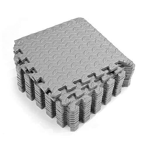 Alfombra de piso de espuma entrelazada, 12 alfombrillas protectoras para el piso, para entrenamiento o gimnasio en casa, espuma de goma de espuma para el piso