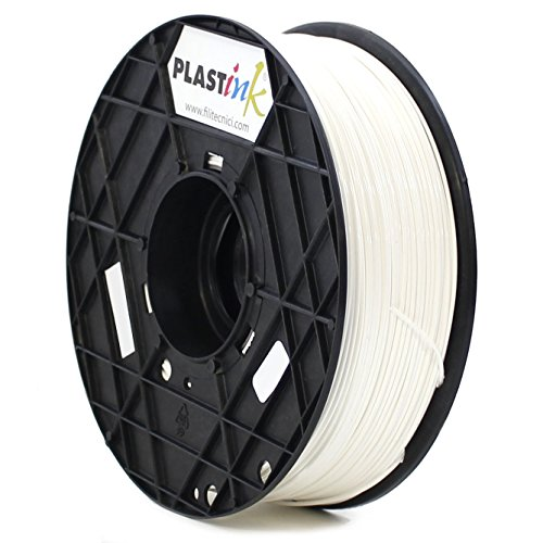 Plastink PLA175WH1 Filamento per Stampante 3D in PLA, Diametro 1.75 mm, Bianco