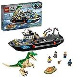 LEGO 76942 Jurassic World Fuga del Barco del Dinosaurio Baryonyx, Juguete con Barco y...