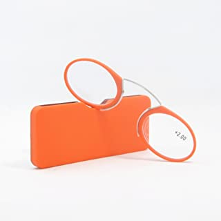 Qi Song Portable Tr90 Nose Clip Reading Glasses Wallet Readers Glasses plus Universal Pod Case +1.0+1.5+2.0+2.5+3.0+3.5