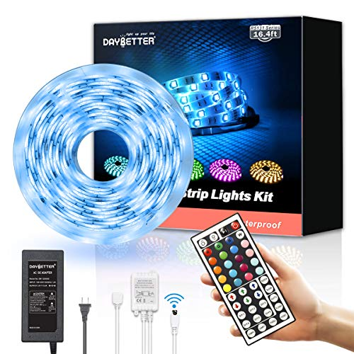 Daybetter Led Strip Lights 16.4ft Waterproof Color Changing Led Lights with Remote Controller