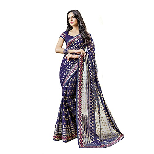 New Indian Women Exclusive Designer Sari Party Wear Wedding Saree Ethnic8745