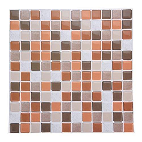 Tile & Sticker, Piastrelle Adesive con Motivo 3D in Gel a Mosaico, di Alta Qualità, Accessorio Durevole di Accessori per Decorazioni Fai Da Te, per Casa Camera da Letto Soggiorno Bagno(YJC0008)