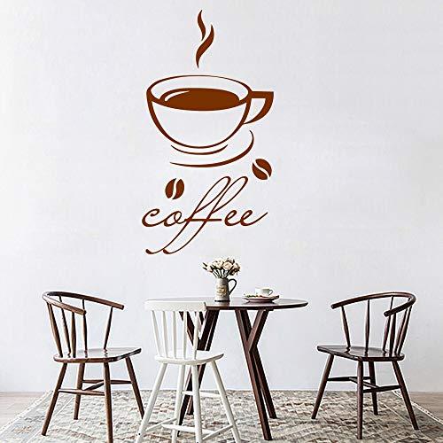 yaonuli Schöne Kaffee Wandkunst Aufkleber Aufkleber Küche Dekoration Vinyl Aufkleber Kaffee 54x99cm
