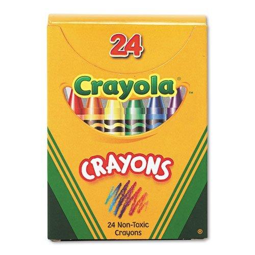 Crayons Tuck Box,Permanent/Waterproof,Nontoxic,24/BX,Asst., Sold as 1 box