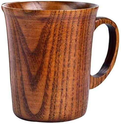 Crazywind - Taza de madera para beber, hecha a mano, con asa