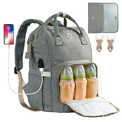 Diaper Bag Backpack for Mom Waterproof Baby...