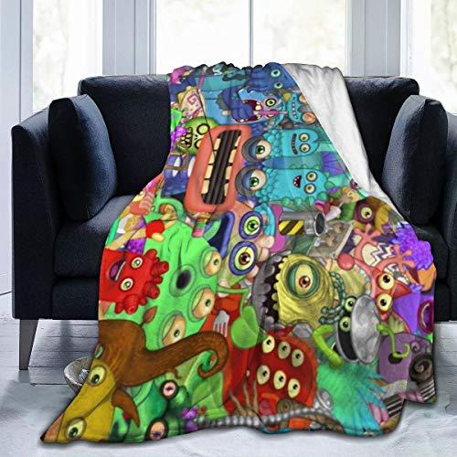 Glenn Isidore Singing Video Game Fleece Blanket - Ultra-Soft Velvet - Throw/Travel - Cozy Lightweight - Easy Care - All Season Premium Bed Blanket 50