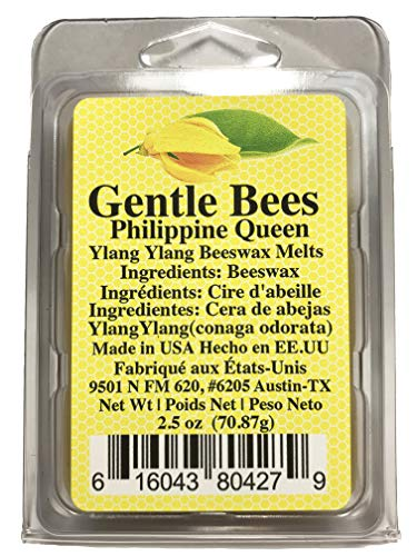 Gentle Bees Philippine Queen Beeswax Melts (Made with Pure ylang ylang Essential Oil)