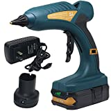 Cordless Hot Glue Gun 60W 18V Rechargeable Electric Heating Tool with Lithium Battery 1.5Ah for Arts...