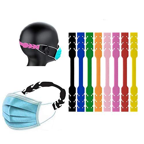 8 fibbie di estensione in gomma fisse per orecchio, strumento ausiliario riutilizzabile morbido elastico antiscivolo