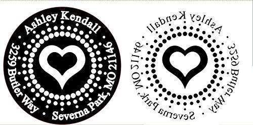 Shiny Custom Address Embosser - Personalize with Initials & Text - Hand-Held Embossing Stamp - Monogram, Seal Embosser Best for Books, Envelopes, Napkins