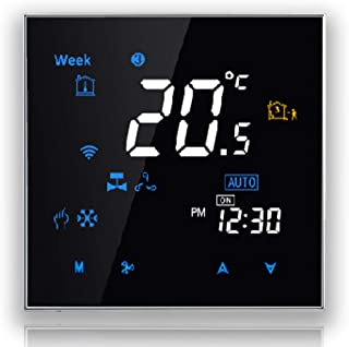 BecaSmart Series 3000 Termostato Inteligente Wi-Fi programable Cuatro Tubos para Aire Acondicionado Fan Coil con conexión ...