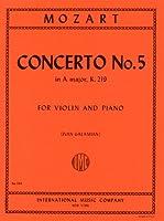 モーツァルト: バイオリン協奏曲 第5番 イ長調 KV 219/ガラミアン編/インターナショナル・ミュージック社/ピアノ伴奏付ソロ楽譜